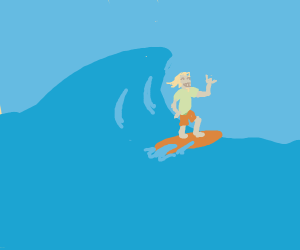 Guy surfing