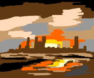 Sunset Upon Castle ( Dope Af )