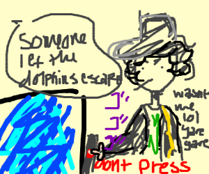 Jotaro goes to the zoo, and the animals escap