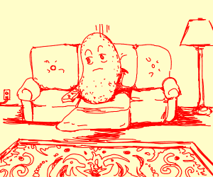 Sad Couch Potato