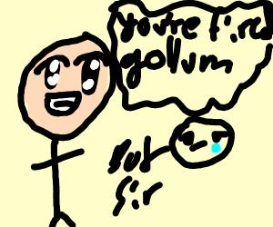 Jaguar firing Gollum