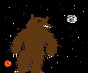 Buff Werewolf In space