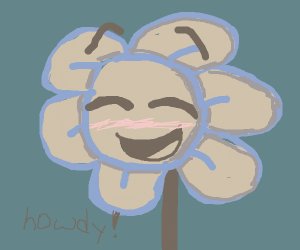 Flowey the flower, but nice (and anime)