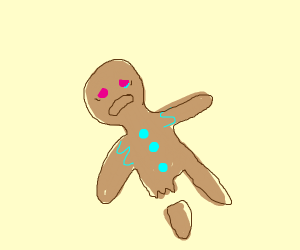 Dying Gingerbread Man