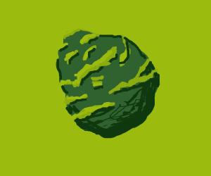 green irregular diamond