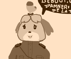 isabelle sings communist anthem