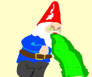garden gnome vomiting