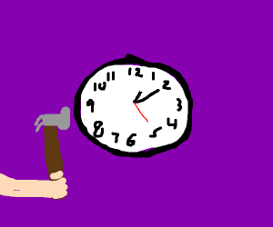 Fixing a clock with a hammer