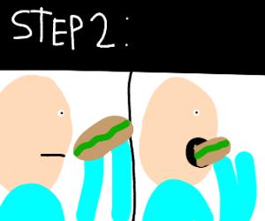 Step 1: buy a sandwich