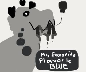 dinosaur loves blue girl