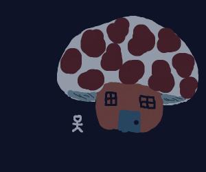 Mushroom House for a Stickman