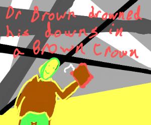 brown guy drinks brown drink