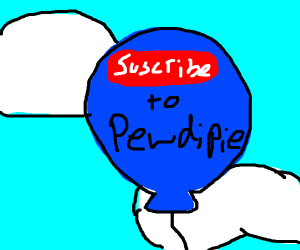 subscribe to pewds balloon