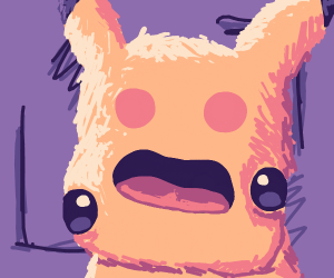 Pikachu, but his Eyes and Cheeks are swapped.