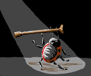 ladybug with a cane