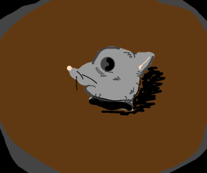 That style withered rat mask