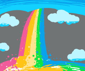 The Lord blesses us with rainbow vomit