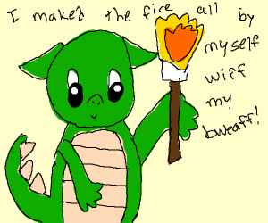 Cutest Dragon Ever Breathes Fire