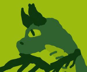 Contemplative dragon