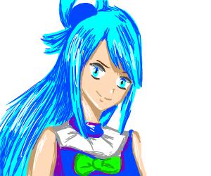 Anime girl in blue