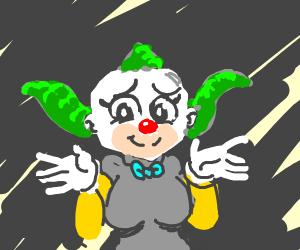 Krusty the klown is woman