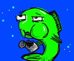 Fish eats junk