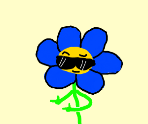 blue flower dude