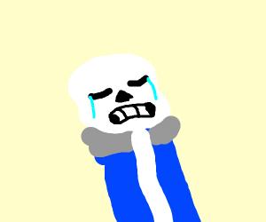 Sans is sad