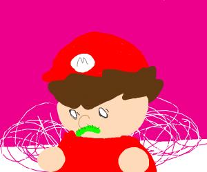 Mario's mustache is a caterpillar