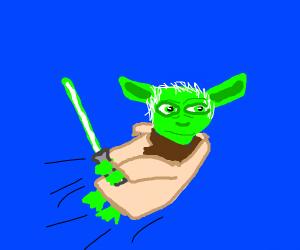 Yoda flying