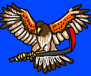 Hawk Playing