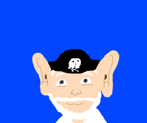 big eared grandpa pirate