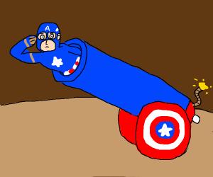 Captain america cannon