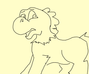 Yoshi with a Horse Body
