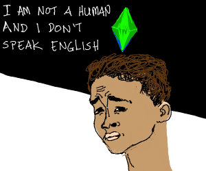 Sims character says a Jaden Smith quote