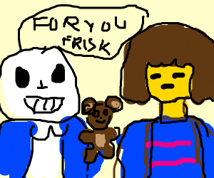 sans givig frisk a toy