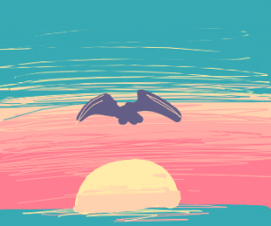 Bird in front of a sunset