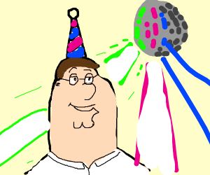 Peter Griffin at a party
