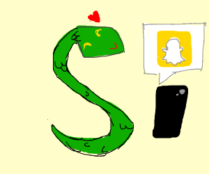 friendly snek uses snapchat