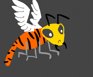 bug tiger thing with wings