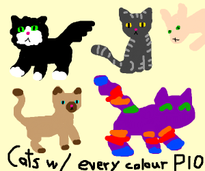 use every color to draw cats (pio)
