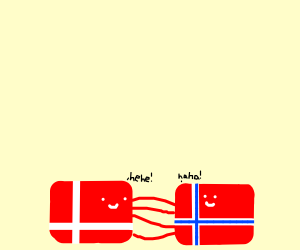 Denmark and Norway tickling each other