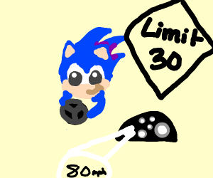 sonic speeding