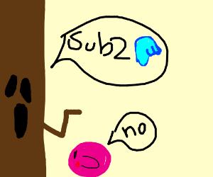 A tree advise Kirbi about something