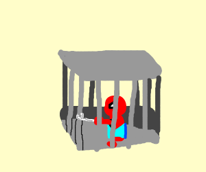 Spiderman is trapped