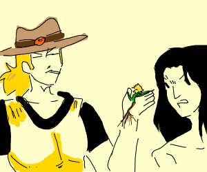 holhose giving weed to tarzan