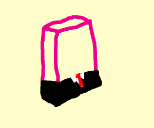 Soap in a suit w red tie