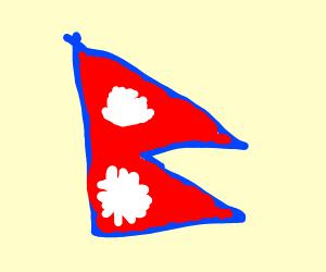 nepals weird flag