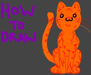 how to draw: orange owo cat