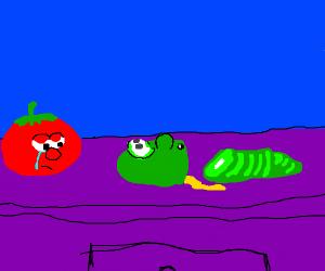bob & larry (veggietales) don't want to die